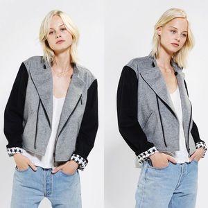 UO Piplette By Alice Ritter Wool Moto Jacket